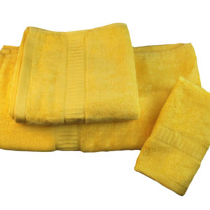 Toallas bambú amarillo