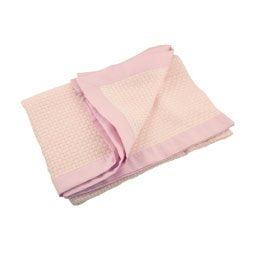 Cobija de bambú color rosa