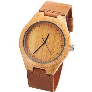 Reloj de bambú para hombre