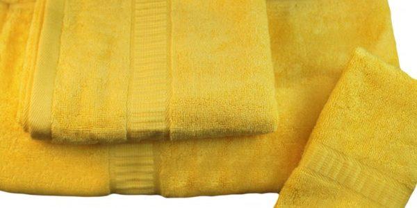 Toallas de bambú color amarillo