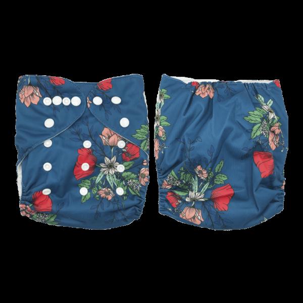 Pañales BeBamboo Azul con Flores
